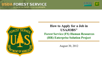 How to Apply for a Job in USAJOBS® - USDA Forest Service
