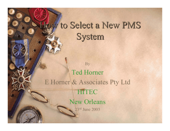 How to Select a New PMS System - Hsyndicate RSS