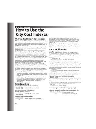 How to Use the City Cost Indexes - RSMeansOnline
