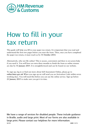 How to fill in your tax return - Andica Payroll Software