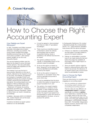How to Choose the Right Accounting Expert - Crowe Horwath