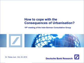 Presentation: How to cope with the Consequences of Urbanisation?