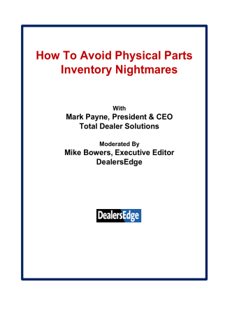 How To Avoid Physical Parts Inventory Nightmares - DealersEdge