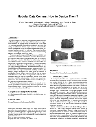 Modular Data Centers: How to Design Them? - Microsoft Research