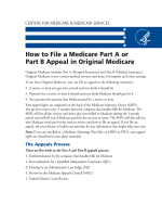 How to File a Medicare Part A or Part B Appeal in Original Medicare