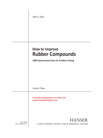 How to Improve Rubber Compounds (2nd Edition) - Hanser