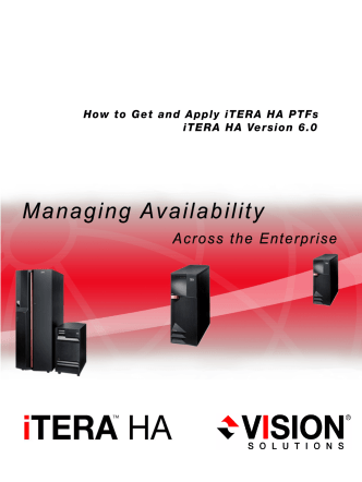 How to Get and Apply iTERA HA v6.0 PTFs - ACMI