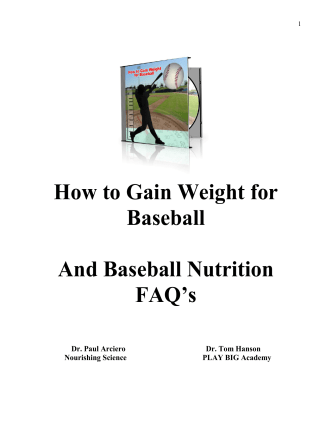 How to Gain Weight for Baseball And Baseball Nutrition FAQs