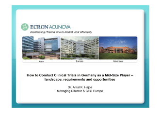 How to Conduct Clinical Trials in Germany as a - Ecron Acunova