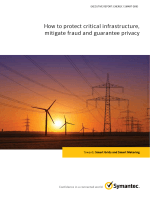 How to protect critical infrastructure, mitigate fraud and - Symantec