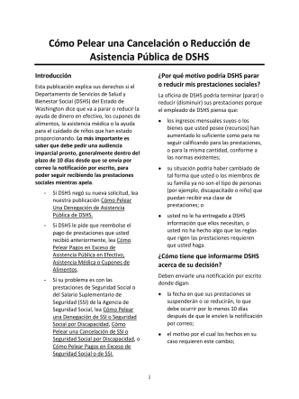 How To Fight a Termination or Reduction of DSHS Public