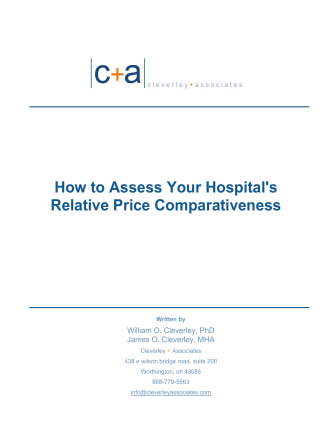 How to Assess Your Hospitals - Cleverley  Associates