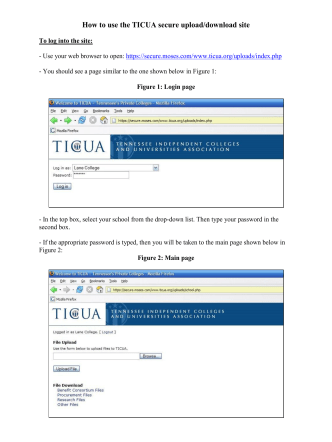 How to use the TICUA secure upload/download site - Sitemason