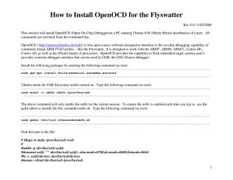 How to Install OpenOCD for the Flyswatter - Tin Can Tools