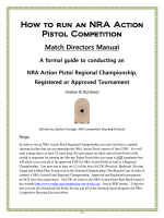 How to run an NRA Action Pistol Competition Pistol Competition
