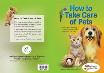 How to Take Care of Pets - Agri-Food  Veterinary Authority of