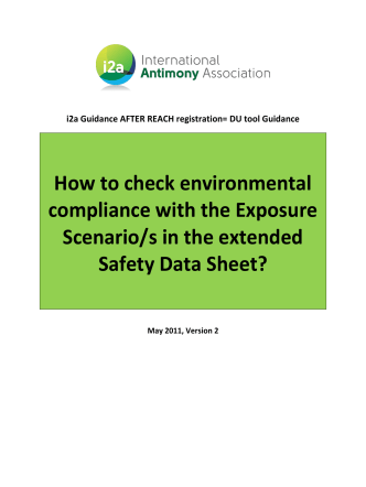 How to check environmental compliance with the Exposure