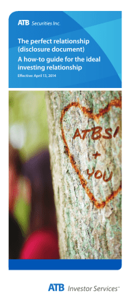 The perfect relationship (disclosure document) A - ATB Financial