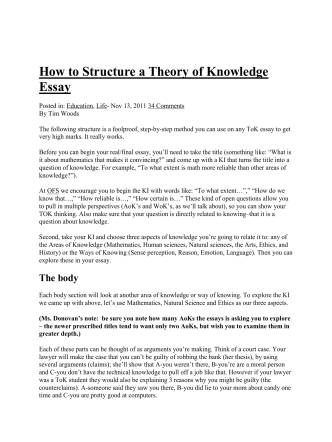 How to Structure a Theory of Knowledge Essay - Mean Teacher