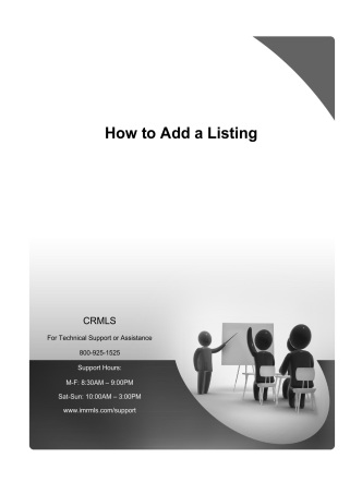 How to Add a Listing - crmls