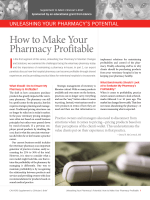 How to Make Your Pharmacy Profitable - Clinicians Brief