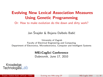 Evolving New Lexical Association Measures Using Genetic