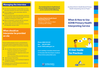 User Guide for Practices - Auckland District Health Board