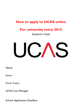How to apply to UCAS online - Surbiton High School