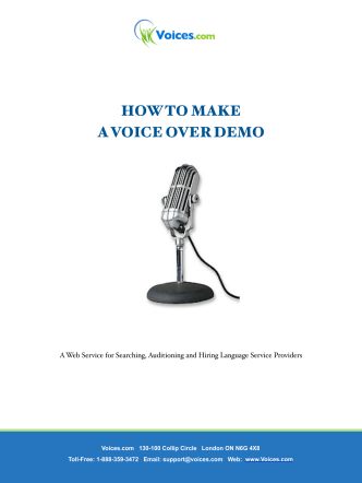How To Make a Voice-Over Demo - Voices.com