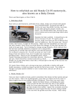 How to refurbish an old Honda CA-95 motorcycle, also known as a