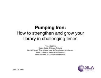 Pumping Iron: How to strengthen and grow your library in - Ibiblio