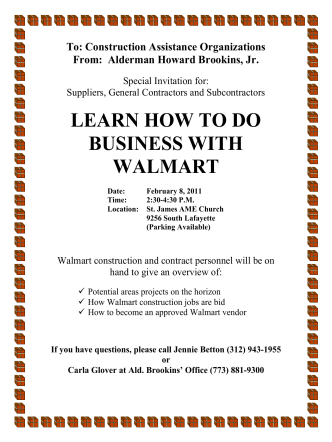 LEARN HOW TO DO BUSINESS WITH WALMART