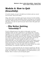 Module 6: How to Quit (Gracefully) - Kurns Guides