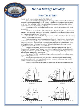 How to Identify Tall Ships - Nautical Traditions