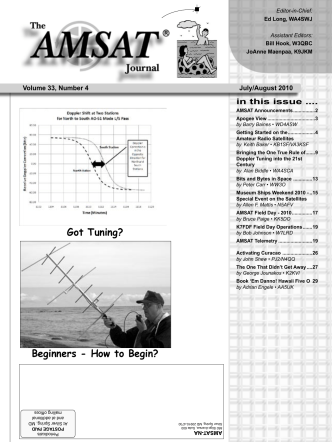 Got Tuning? Beginners - How to Begin? - Amsat