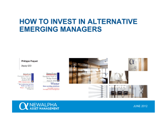 HOW TO INVEST IN ALTERNATIVE EMERGING MANAGERS