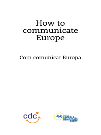 How to communicate Europe - CDC Internacional