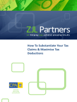How To Substantiate Your Tax Claims  Maximise Tax Deductions