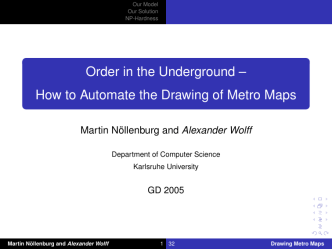 Order in the Underground – [1ex] How to Automate the Drawing of