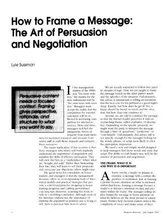 How to Ram-e a Message: The Art of Persuasion and Negotiation