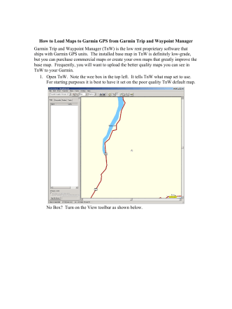 How to Load Maps to Garmin GPS from Garmin Trip and Waypoint