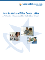 How to Write a Killer Cover Letter - Graduate Center
