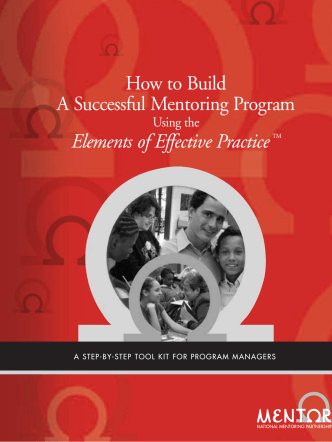How to Build A Successful Mentoring Program Elements of Effective