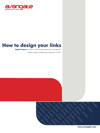 How to design your links - Avangate