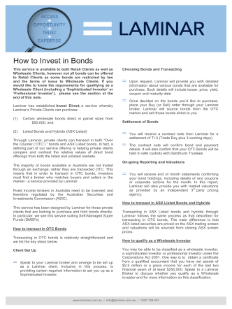 How to Invest in Bonds - Laminar Group