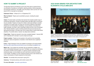 Submissions Summary. - Aga Khan Development Network