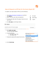 How to Request an API Key - Home Depot Developer Portal
