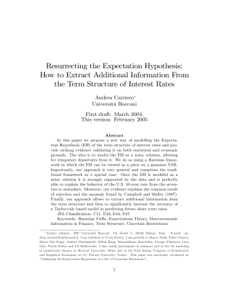 Resurrecting the Expectation Hypothesis: How to Extract Additional