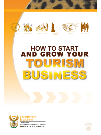 How to start and grow your tourism business - South African