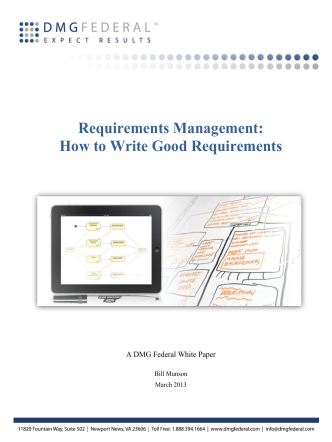 Requirements Management: How to Write Good - DMG Federal